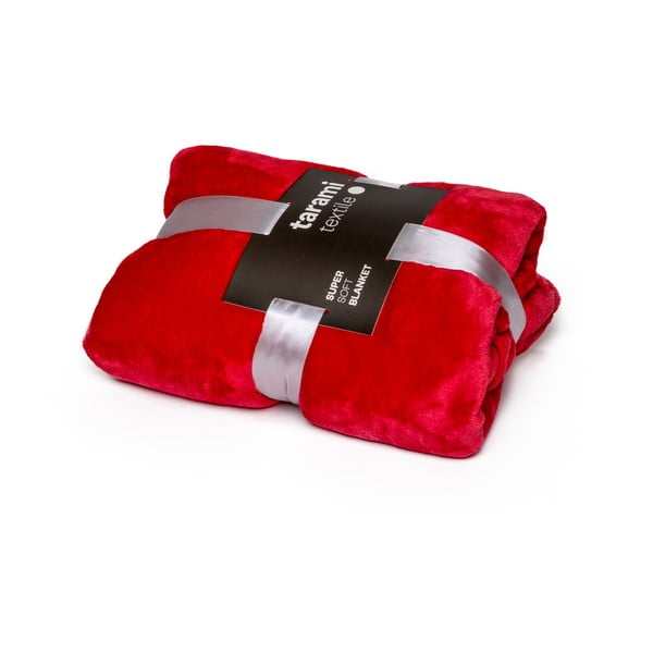 Červená deka Tarami, 200×150 cm