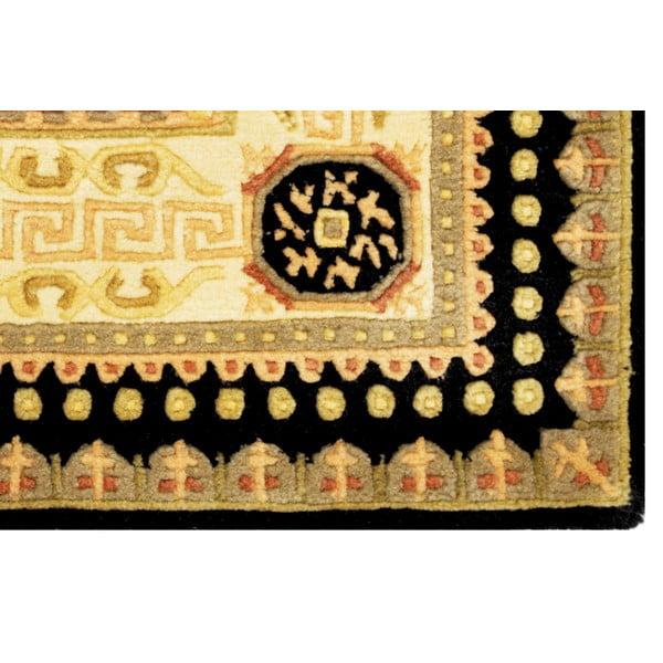 Vlnený koberec Bakero Vanilla/Black, 70x140 cm