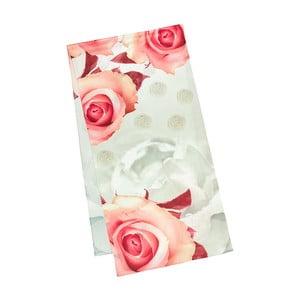 Šatka z hodvábneho saténu Von Lilienfeld Roses Creme