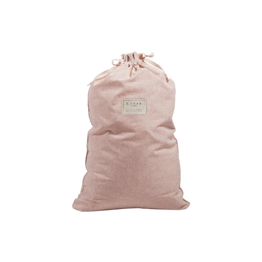 Látkový vak na prádlo Linen Bag Rose, výška 75 cm