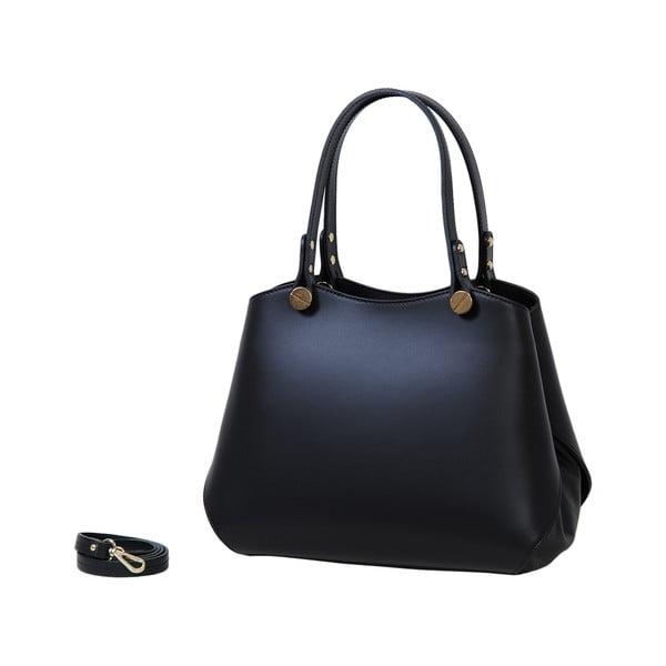 Čierna kabelka z pravej kože Andrea Cardone Sante