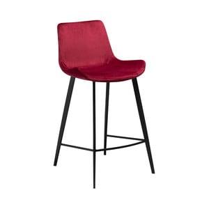 Vínová barová stolička DAN–FORM Denmark Hype Velvet