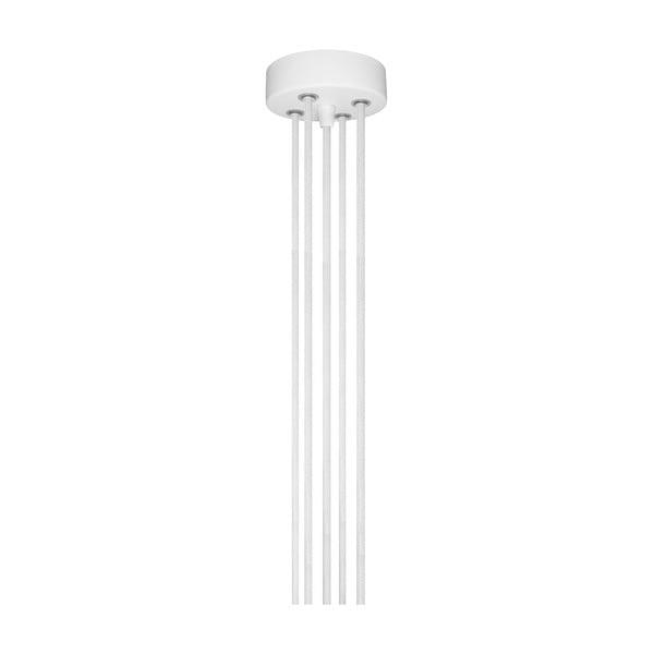 Biele závesné svietidlo s 5 káblami Bulb Attack Cero Group
