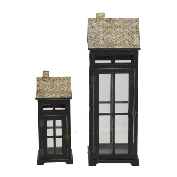 Sada 2 lampášov s konštrukciou z jedľového dreva Mauro Ferretti Cottage