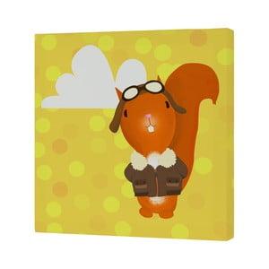 Nástenný obrázok Ballon Ride Squirrel, 27×27 cm