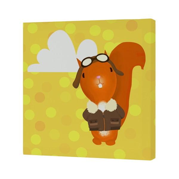 Nástenný obrázok Ballon Ride Squirrel, 27x27 cm
