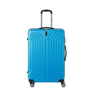 Tyrkysovomodrý cestovný kufor na kolieskách SINEQUANONE Tina, 107 l