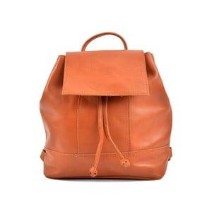 Koňakovohnedý kožený dámsky batoh Roberta M Ramida