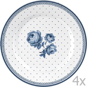 Sada 4 tanierov Katie Alice Indigo Flora, 19 cm
