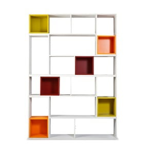 Knižnica Lego s farebnými boxami