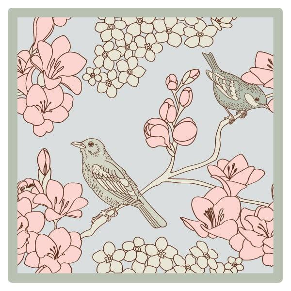 Sada 2 prestieraní Pink Birds, 20x20 cm