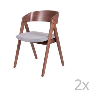 Sada 2 jedálenských stoličiek so sivým podsedákom sømcasa Rina