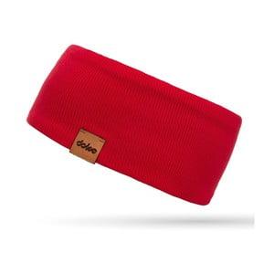 Červená úpletová čelenka DOKE