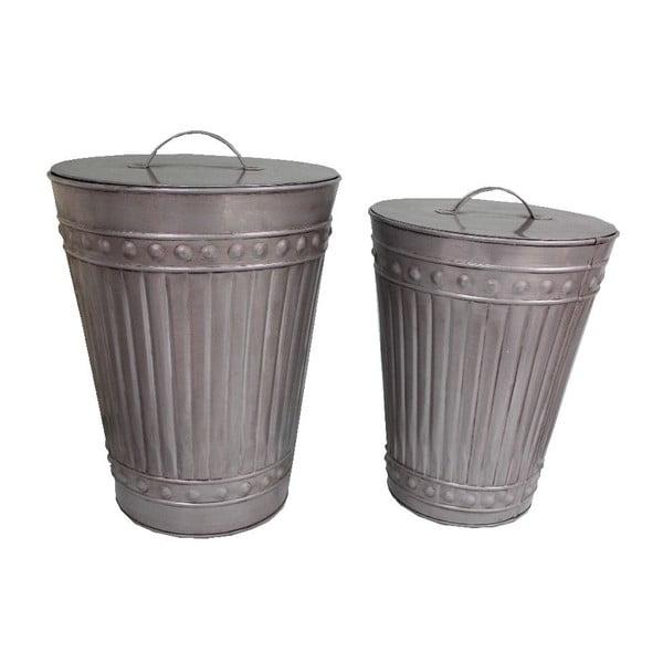 Sada 2 odpadkových košov Antic Line Zinc Bin
