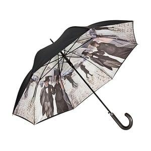 Dáždnik s rúčkou s dvojitou vrstvou Von Lilienfeld Rainy Paris