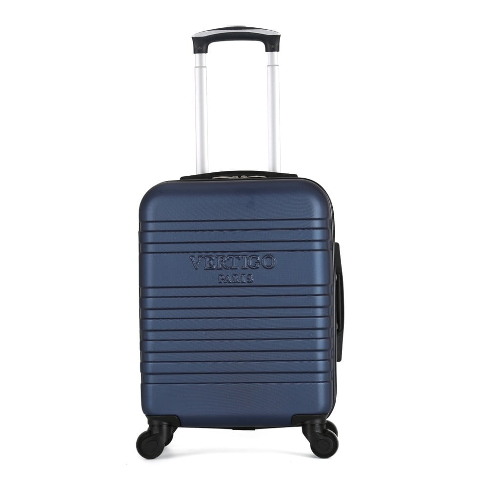 Tmavomodrý cestovný kufor na kolieskach VERTIGO Valises Cabine Cadenas Muela