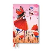 Diár na rok 2019 Paperblanks Poppy Field Verso, 9,5 x 14 cm