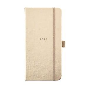 Diár na rok 2020 v zlatej farbe Busy B Pretty, 118 strán
