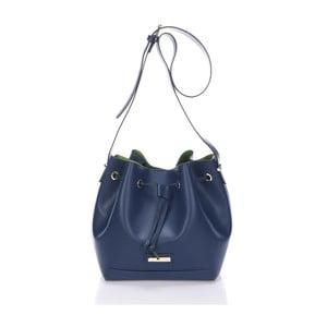 Kožená kabelka Krole Klara, modrá