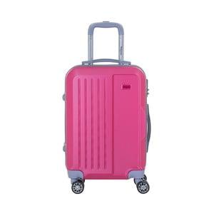 Ružový cestovný kufor na kolieskách s kódovým zámkom SINEQUANONE Iskra, 44 l