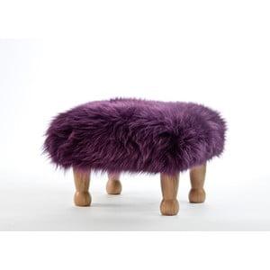 Stolička z ovčej kože Angharad Aubergine