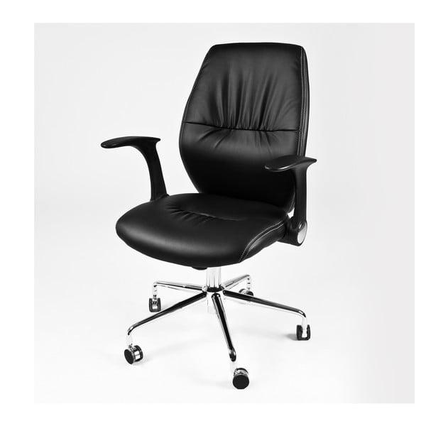 Pracovná stolička na kolieskach Icaro, čierna