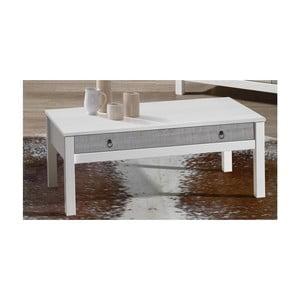 Biely konferenčný stolík z borovicového dreva SOB Irelia