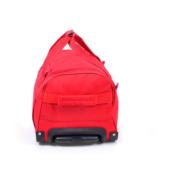 Červená cestovná taška nakolieskach Hero, 83 l