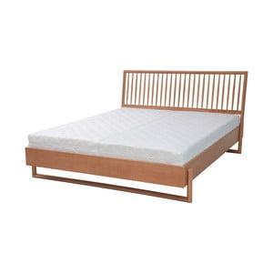 Dvoulôžková posteľ z dubového dreva Ragaba Diamond, 160 x 200 cm