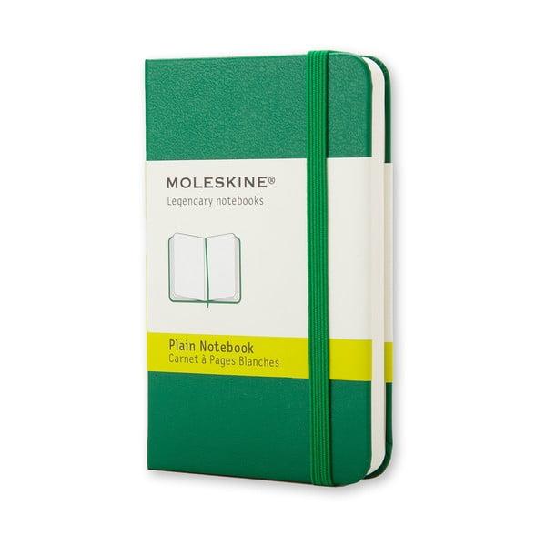 Zelený minizápisník Moleskine, nelinajkový