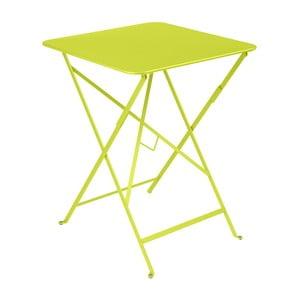 Svetlozelený záhradný stolík Fermob Bistro, 57×57 cm