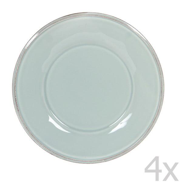 Sada 4 dezertných tanierov Constance Sea Green, 23.5 cm