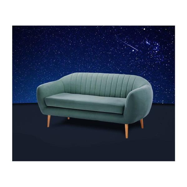 Tyrkysovozelená trojmiestna pohovka Scandi by Stella Cadente Maison Comete