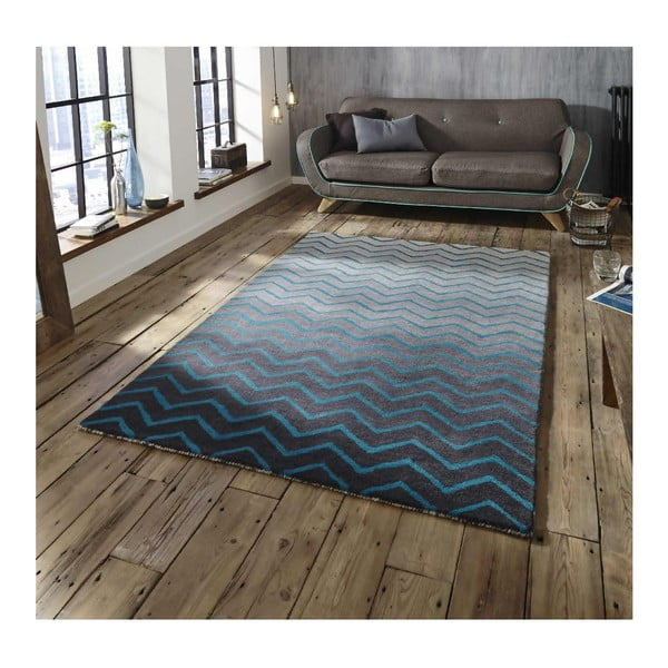 Modro-sivý koberec Think Rugs Spectrum Grey Blue, 120 x 170 cm