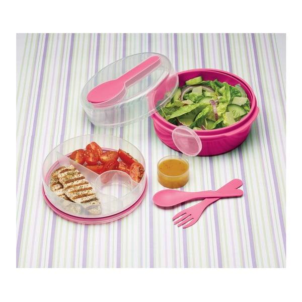 Ružový desiatový box Kitchen Craft Coolmovers Round