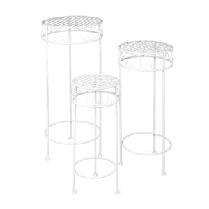 Set 3 kovových stolíkov Romantic