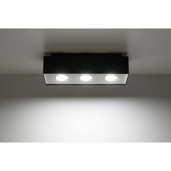 Čierne stropné svetlo Nice Lamps Hydra 3