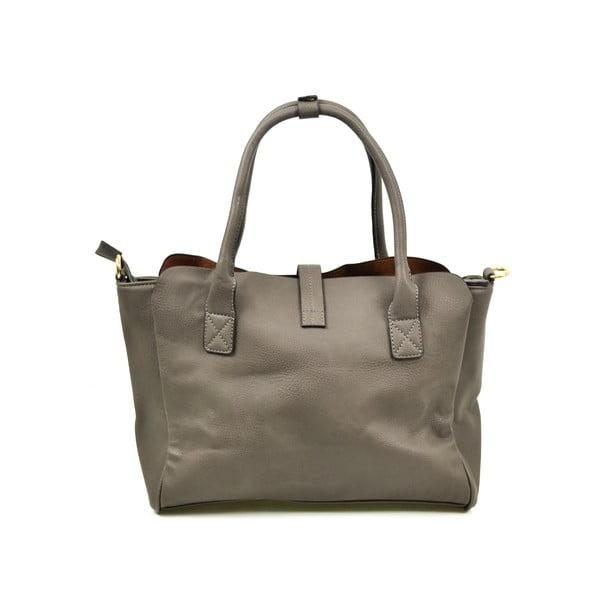 Kožená kabelka Alessia, sivá