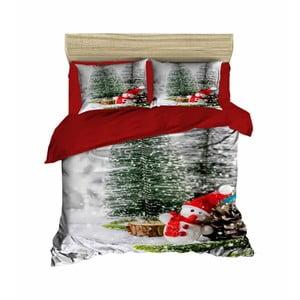 Vianočné obliečky na dvojlôžko s plachtou Gia, 160×220 cm