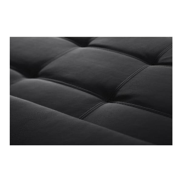 Čierna pohovka Modernist Symbole, pravý roh