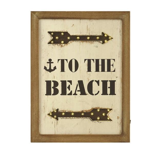 Svietiaci LED obraz Artesania Esteban Ferrer To The Beach