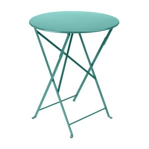 Modrý záhradný stolík Fermob Bistro, ⌀ 60 cm