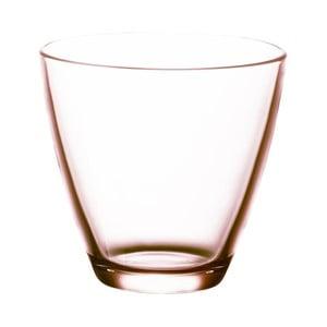 Sada 6 ružových pohárov na vodu Bitz Fluidum, 260 ml