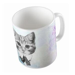 Keramický hrnček Butter Kings Cat With A Bow, 330 ml