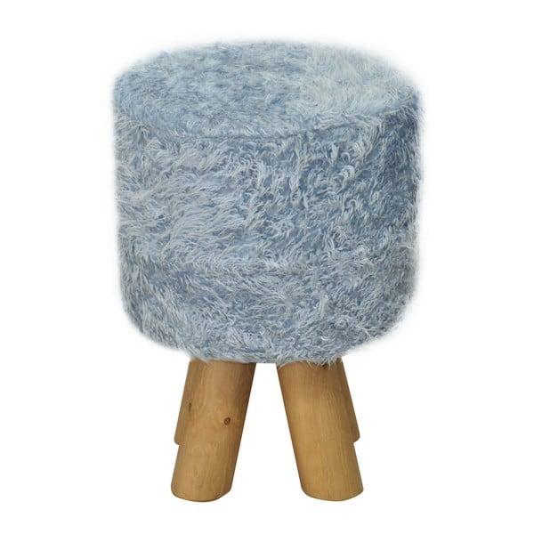 Stolička Happy Barok Kivi Fur, modrá