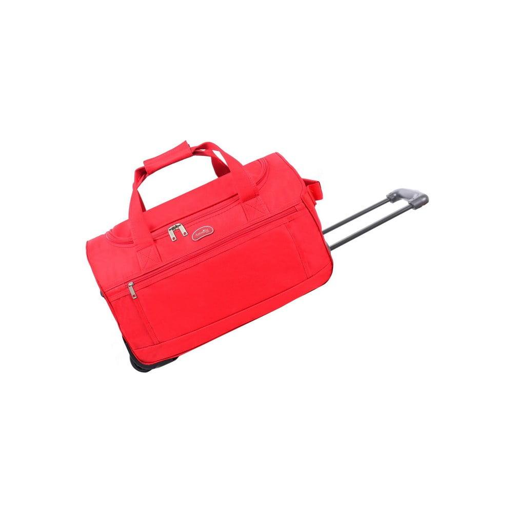 Červená cestovná taška na kolieskach Hero Marion, 43 l