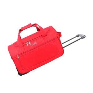 Červená cestovná taška nakolieskach Hero, 43 l