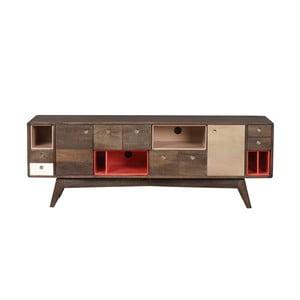 TV komoda zmasívneho mangového dreva Woodjam Play Dark, 155cm