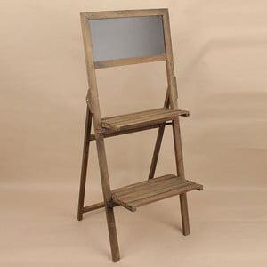 Drevený stojan s tabuľou Dakls, hnedý