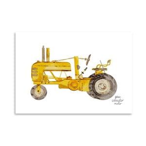 Autorský plagát Tractor, 30x42 m
